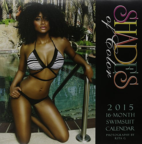 Shades of Color 12 by 12 Inches 2015-2016 African American Swimsuit 16 Month Calendar (15SOC)