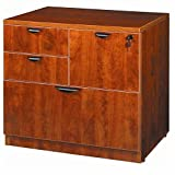 Boss Office Products N114-C Combo Lateral File in Cherry