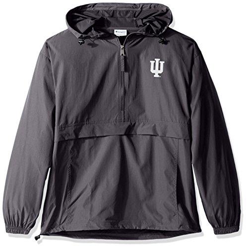 Champion NCAA Men's Half Zip Front Pocket Packable Jacket Indiana Hoosiers Medium