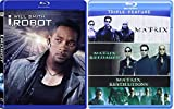 The Matrix Triple Feature (The Matrix / The Matrix Reloaded / The Matrix Revolutions) + I, Robot (Widescreen Edition) [Blu Ray] (2007) Epic Sci-Fi Bundle DVD Movie 4 Film Set