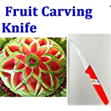 Thailand Thai peeler fruit vegetable carving knife blade culinary art tool.