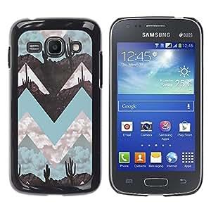 "Pulsar Snap-on Series Teléfono Carcasa Funda Case Caso para Samsung Galaxy Ace 3 , Paisaje Arte Minimalista trullo"""