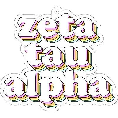 Zeta Tau Alpha - Retro Air Freshener - 2/Pack: Kitchen & Dining
