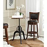 Cheap Safavieh Home Collection Nesta Black + Copper Crank Table