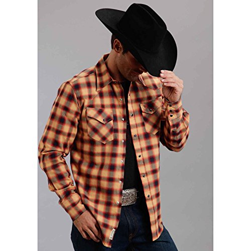 Stetson 11-001-0478-0702 Mens Collection-Original Rugged Button Down Shirts, - Collection Stetson Xl
