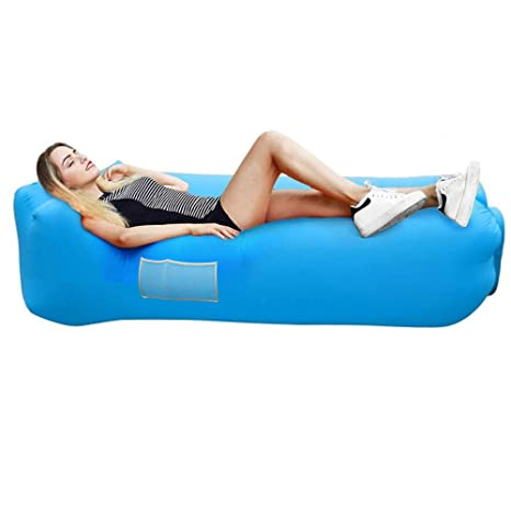 Sports & Entertainment Inflatable Sleeping Bag Lounger Air Sofa Anti-air Leaking Design For Indoor Or Outdoor Use Inflatable Lounge For Camping Picnics Camping & Hiking