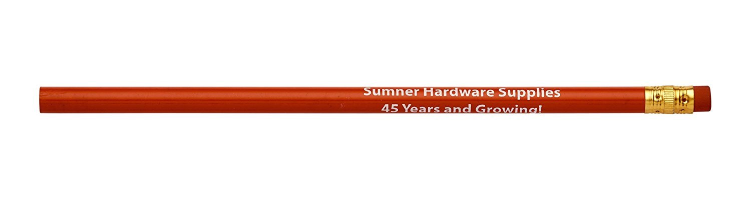 Pencil Guy Promotional Personalized Imprinted Round Pencils.-500 per Box Red