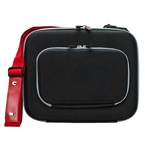 VanGoddy Lish Black and Red Hard Cube Carrying Case 10 fo...