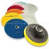 7 polishing pad for granite - Diamond Polishing Pads 4 inch Wet/Dry 8 Piece Set Granite Stone Concrete Marble