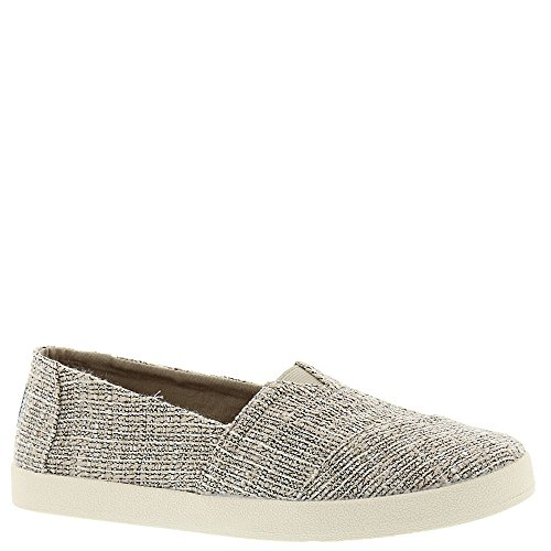 Toms Oxford Tan Multicolor Tweed Women's Avalon Slip Ons Shoes (8)