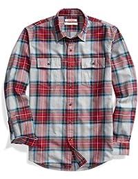 Men's Standard-Fit Plaid Twill Shirt