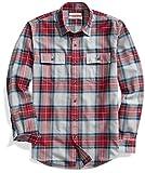 Goodthreads Men's Standard-Fit Long-Sleeve Plaid Twill Shirt, Medium Grey Heather, Medium