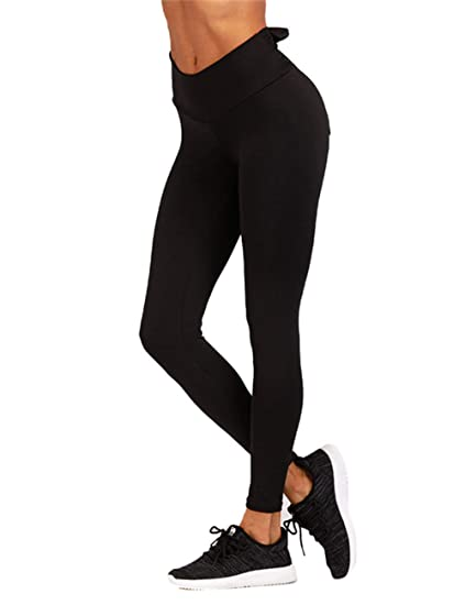 Amazon.com: Lovelychica Womens Yoga Pants Mid Waist Hip ...