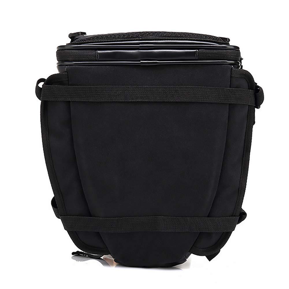 Gep/äcktasche Multifunktionstasche Satteltasche Helm Tasche Schwarz Wasserdicht Multifunktional PU Leder Motorrad Hecktasche
