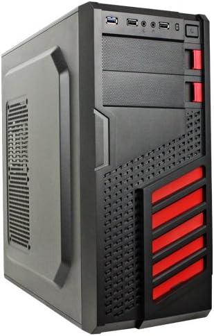 UNYKAch Maze Torre Negro, Rojo - Caja de Ordenador (Torre, PC, SGCC, Negro, Rojo, ATX,Micro ATX, 33 cm): Amazon.es: Informática