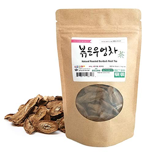 [Medicinal Korean Herb] Roasted Burdock Root Tea (Niubangcha/우엉 차) Dried Bulk Herbs 4oz ()