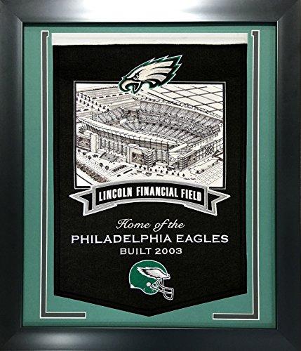 Framed Nfl Stadium Banners 24 X28   Philadelphia Eagles Lincoln Financial Stadium