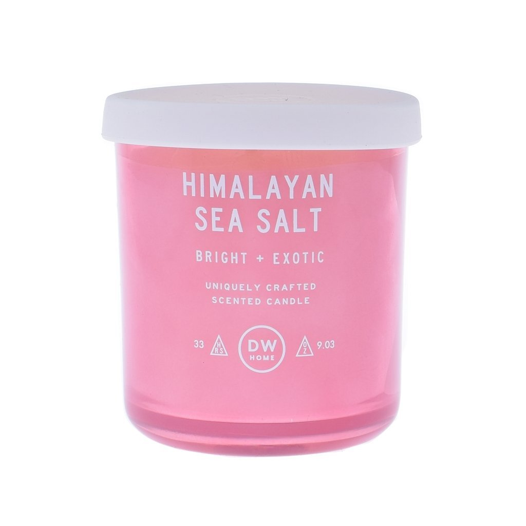 DW Home Uniquely Crafted 9 Ounce Himalayan Sea Salt - Bright + Exotic - Richly Scented Candle