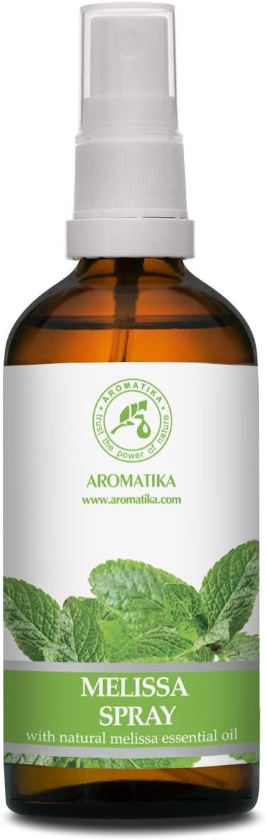 Melissa Aromaterapia Spray con Aceite Esencial Natural Melissa Indicum 100ml - Difusor - Ambientador - Aroma de Verano - Ideal para Yoga - Almohada y Lino Spray - Relajación - Sueño Reparador