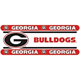 Georgia Bulldogs NCAA Decor Wall Border 8 PACK (5 In by 15 Ft Per Pack = 120 Feet Total!) - Great for Playrooms, Basements or Mega-Sized Fancaves! - SAVE BIG ON BUNDLING!