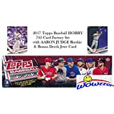 2017 Topps MLB Baseball HUGE 705 Card Complete HOBBY Factory Set with AARON JUDGE ROOKIE & 5 EXCLUSIVE PARALLEL Cards! Plus Special WOWZZER Bonus DEREK JETER Card! Includes all Cards from Series 1 & 2
