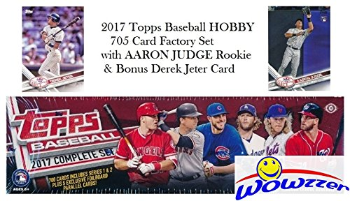 2017 Topps MLB Baseball HUGE 705 Card Complete HOBBY Factory Set with AARON JUDGE ROOKIE & 5 EXCLUSIVE PARALLEL Cards! Plus Special WOWZZER Bonus DEREK JETER Card! Includes all Cards (Topps Baseball Set)