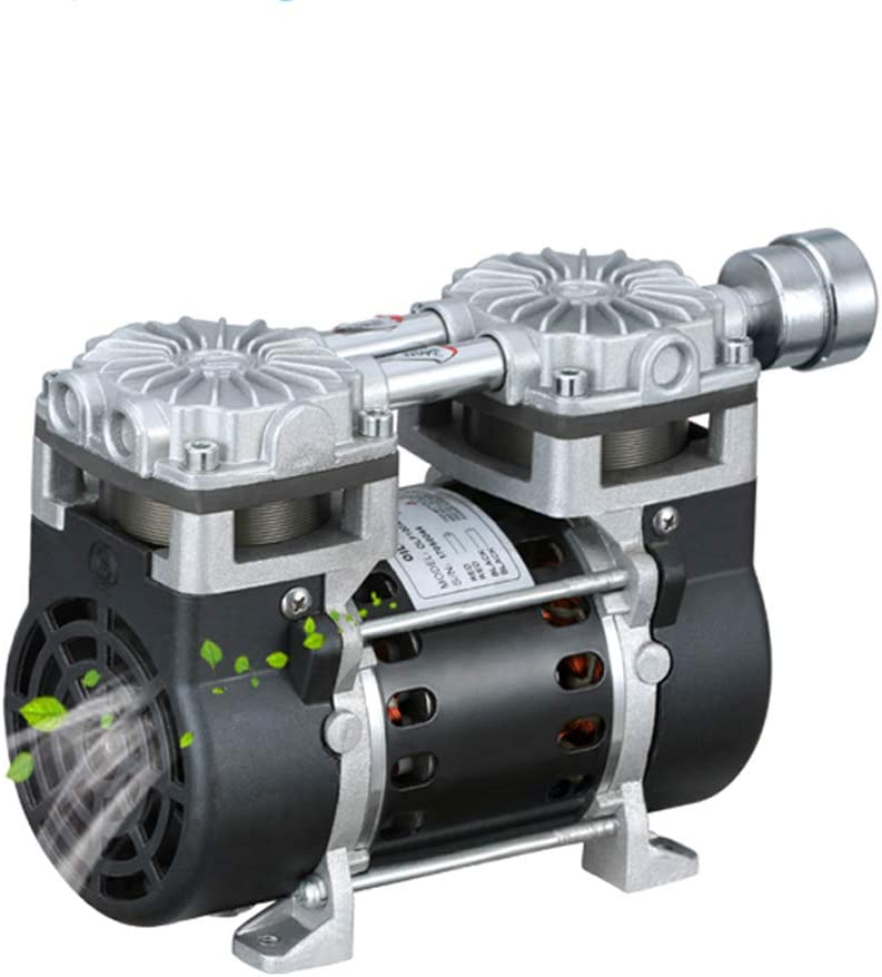 MXBAOHENG Oilless Vacuum Pump Industrial Oil Free Piston Vacuum Pump 1.2CFM 35L/min -95Kpa (110V, SY-650H)