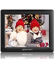 APEMAN Digitaler Bilderrahmen, 8 Zoll 1280x800 HD 4:3 LCD Display Foto, Musik, MP4 Videoplayer, Kalender, Wecker Automatischer EIN/AUS Timer, Unterstützung USB/SD, Mit Fernbedienung