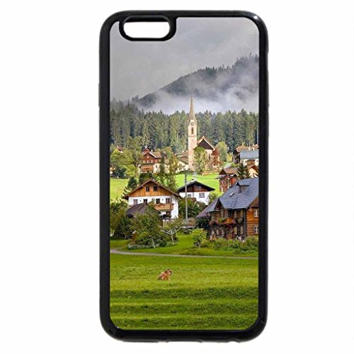 iPhone 6S / iPhone 6 Case (Black) Village on the Hill