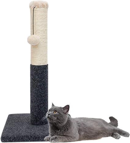 Poste Rascador para Gatos Juguetes Interactivos para Gatos, Postes Rascadores para Gatos Gatitos - Rascador para Gatos con Poste Rascador De Felpa con Bola Peluda 21 Pulgadas (Beige): Amazon.es: Deportes y aire