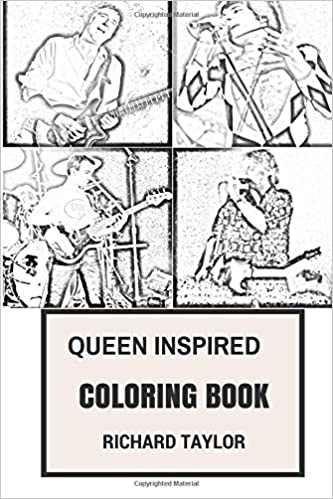 Queen Inspired Coloring Book British Rock Opera And