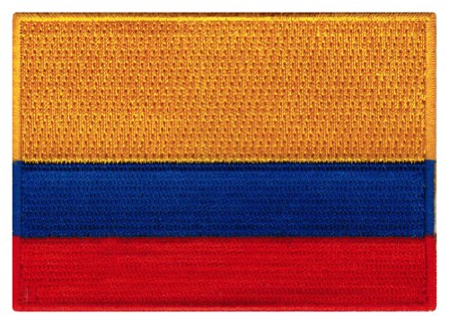 Colombia Flag Embroidered Patch Colombian Iron-On National E
