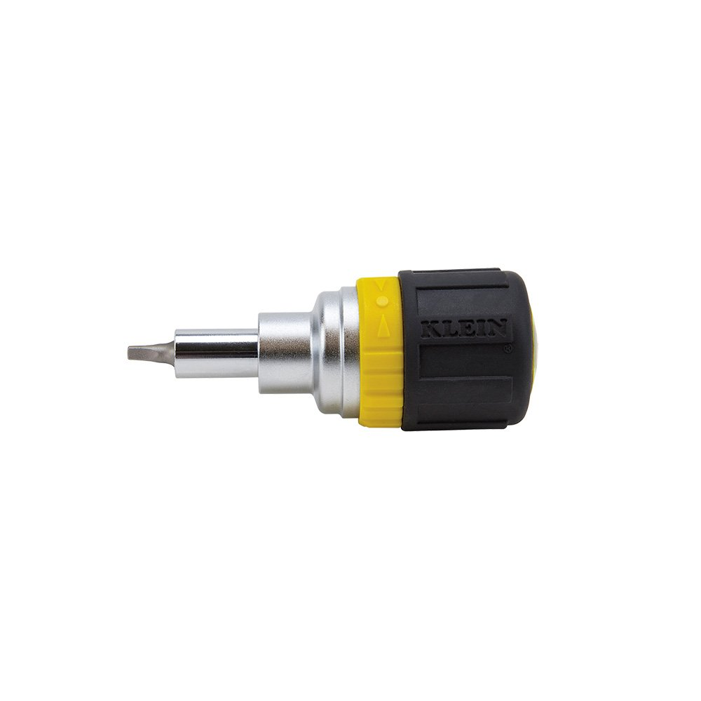 6-in-1 Ratcheting Stubby Screwdriver with Square Recess Klein Tools 32594