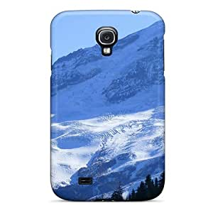 First-class Case Cover For Galaxy S4 Dual Protection Cover Glaciers On Mount Baker