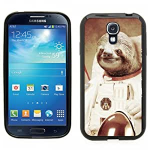 Samsung Galaxy S4 SIIII Black Rubber Silicone Case - Dolla Dolla Bill Sloth Astronaut on the moon