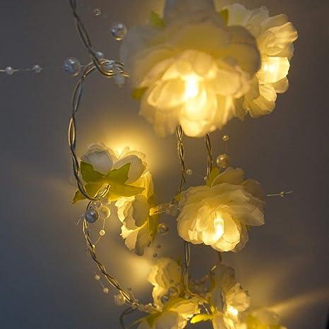 ANZOME LED Lichterkette, 2.4m 20LED Warmweiß Blumen Lichterkette,  Romantisch Deko für Hochzeit Party - Geschenk - Tischdeko - Balkon -  Schlafzimmer - ...
