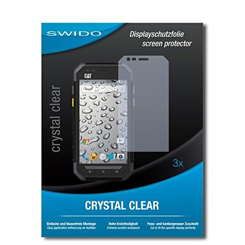 3 x SWIDO Crystal Clear Pellicola protettiva per Caterpillar Cat S30 / S-30 - Protezione cristallina e resistente per il display! QUALITA' PREMIUM - Made in Germany