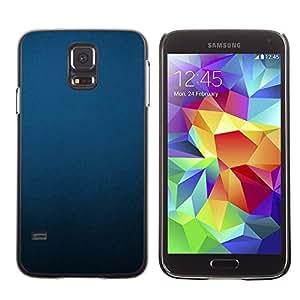 TopCaseStore / la caja del caucho duro de la cubierta de protección de la piel - Uniform Minimalist Black Pastel - Samsung Galaxy S5 SM-G900