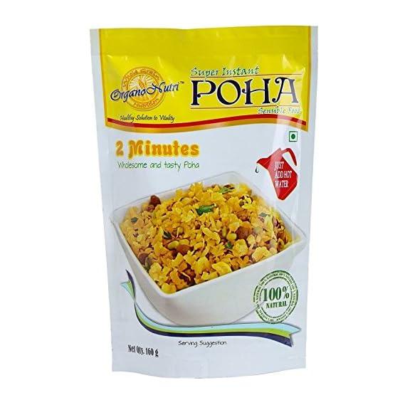 OrganoNutri - Super Instant Rice Poha - Instant Breakfast (3 Packs/ 480g)