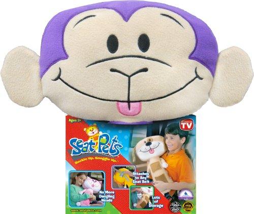 Seat Pets Purple/Tan Monkey Car Seat Toy Animals Supplies Supplies ...