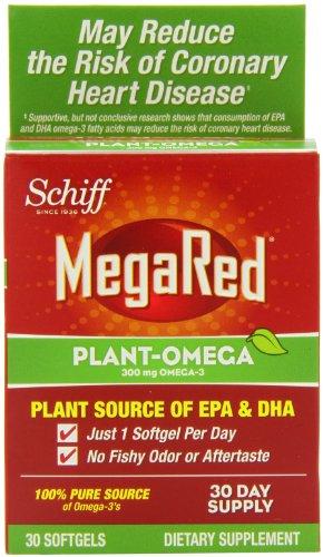 Schiff MegaRed gélules végétales-Omega, 30 Count