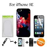 3in1 vape - Colorful Vape Smoke Custom iPhone SE Cases-Black-Plastic,Bundle 3in1 Comes with Screen Protector/Universal Stylus Pen by innosub