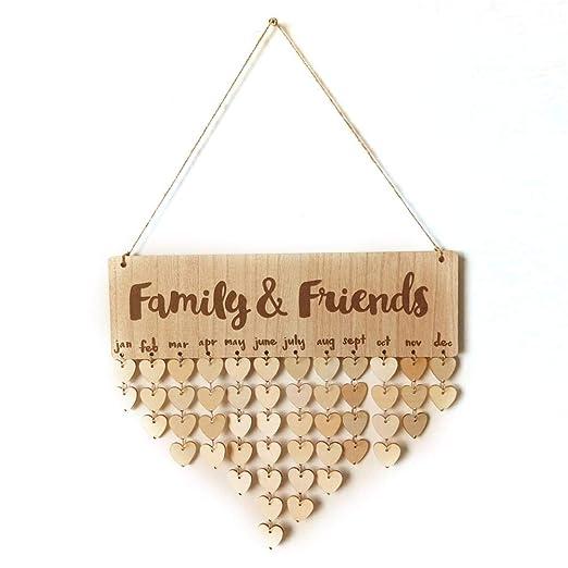 Ruier-hui DIY Familias Amigos Cumpleaños Año Día Aniversario ...