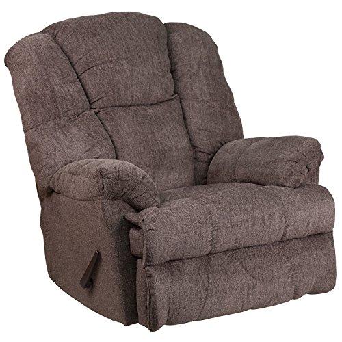 Flash Furniture Contemporary Hillel Pewter Chenille Rocker Recliner