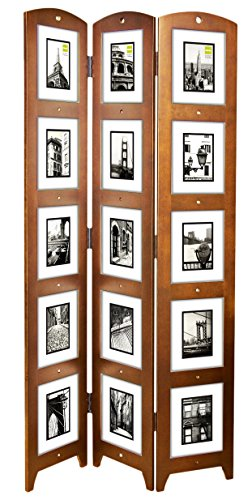 Kiera Grace Triple Panel Floor Photo Screen, 33 by 64.5-Inch, Holds 15 - 5 by 7-inch Photos, Cairo