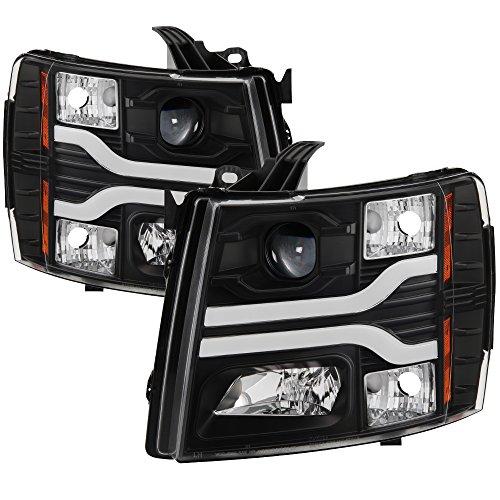 Spyder Auto 5083609 DRL LED Projector Headlights Version 3 Black DRL LED Projector (2008 Black Projector Headlights)
