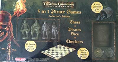Pirates of the Caribbean; 3 in 1 Pirate Games Collector's Edition (Chess, Pirates Dice, Checkers)