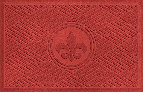 Aqua shield diamonds fleur de lis doormat import it all - Fleur de lis doormat ...