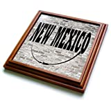 3dRose trv_268710_1 New Mexico State Capital Is Santa Fe Trivet with Tile, 8 by 8''