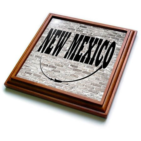 3dRose trv_268710_1 New Mexico State Capital is Santa Fe Trivet with Tile, 8 by 8